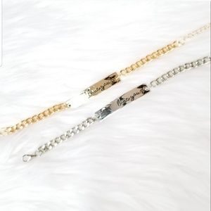 Love you Bar Bracelet